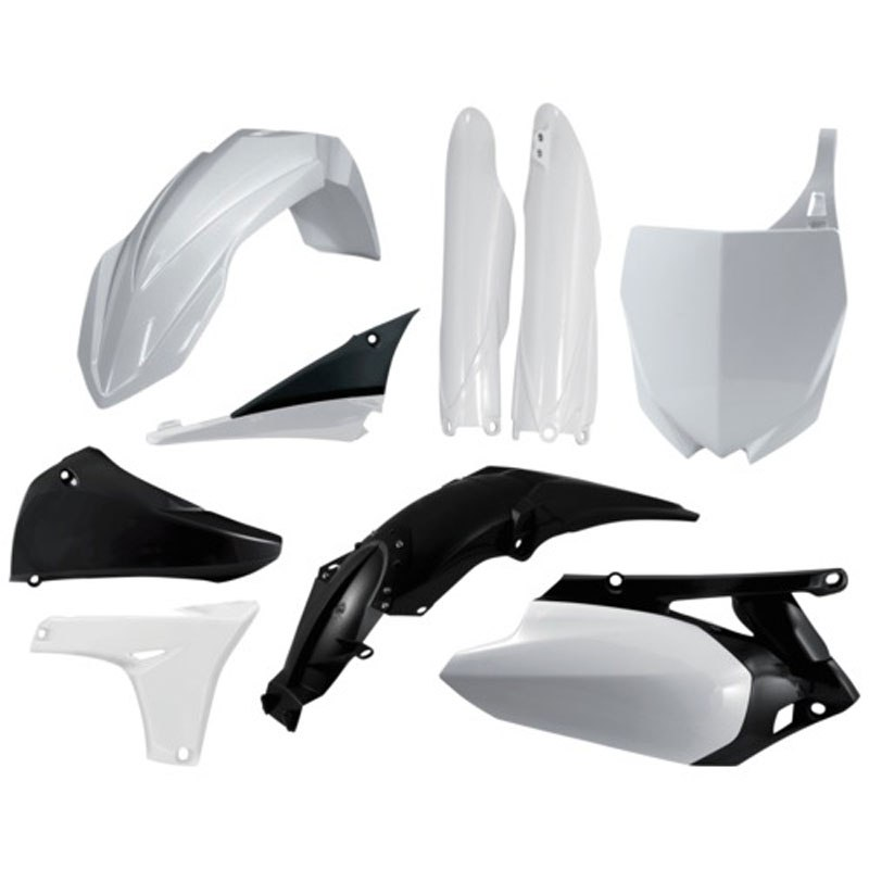 kit plastiques acerbis full r plica blanc partie cycle moto cross. Black Bedroom Furniture Sets. Home Design Ideas