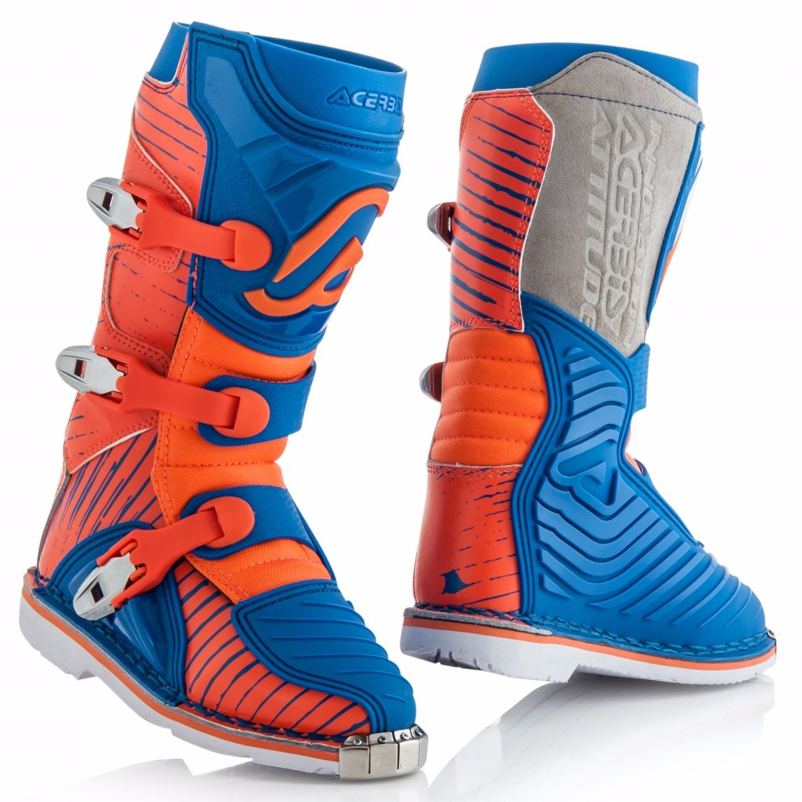 Bottes Cross Acerbis Shark Junior - Bleu Orange -