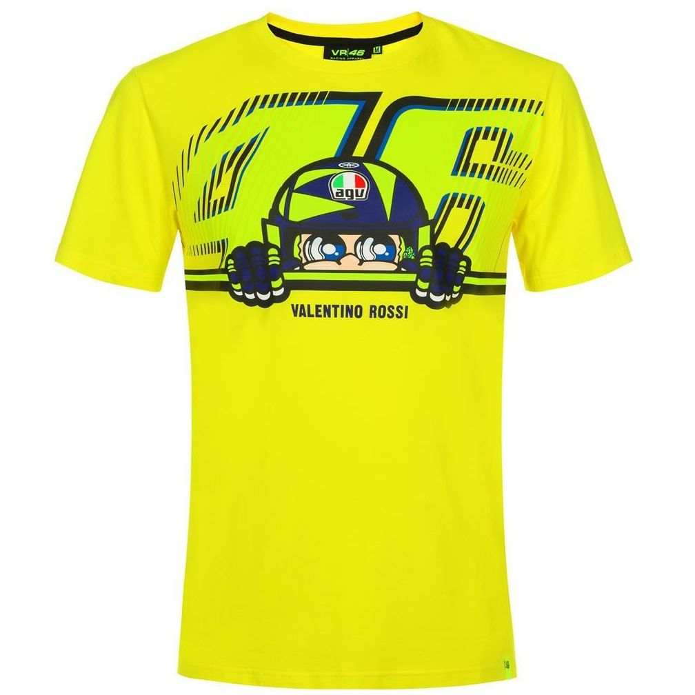T-Shirt manches courtes VR 46 VALENTINO ROSSI CUPOLINO