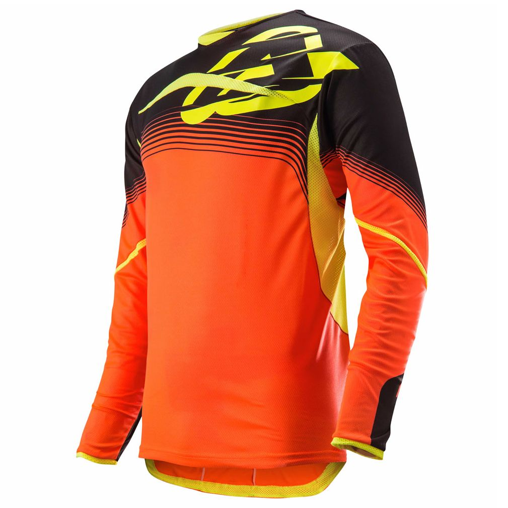 Maillot cross Acerbis X-FLEX - ORANGE FLUO / NOIR -  2017
