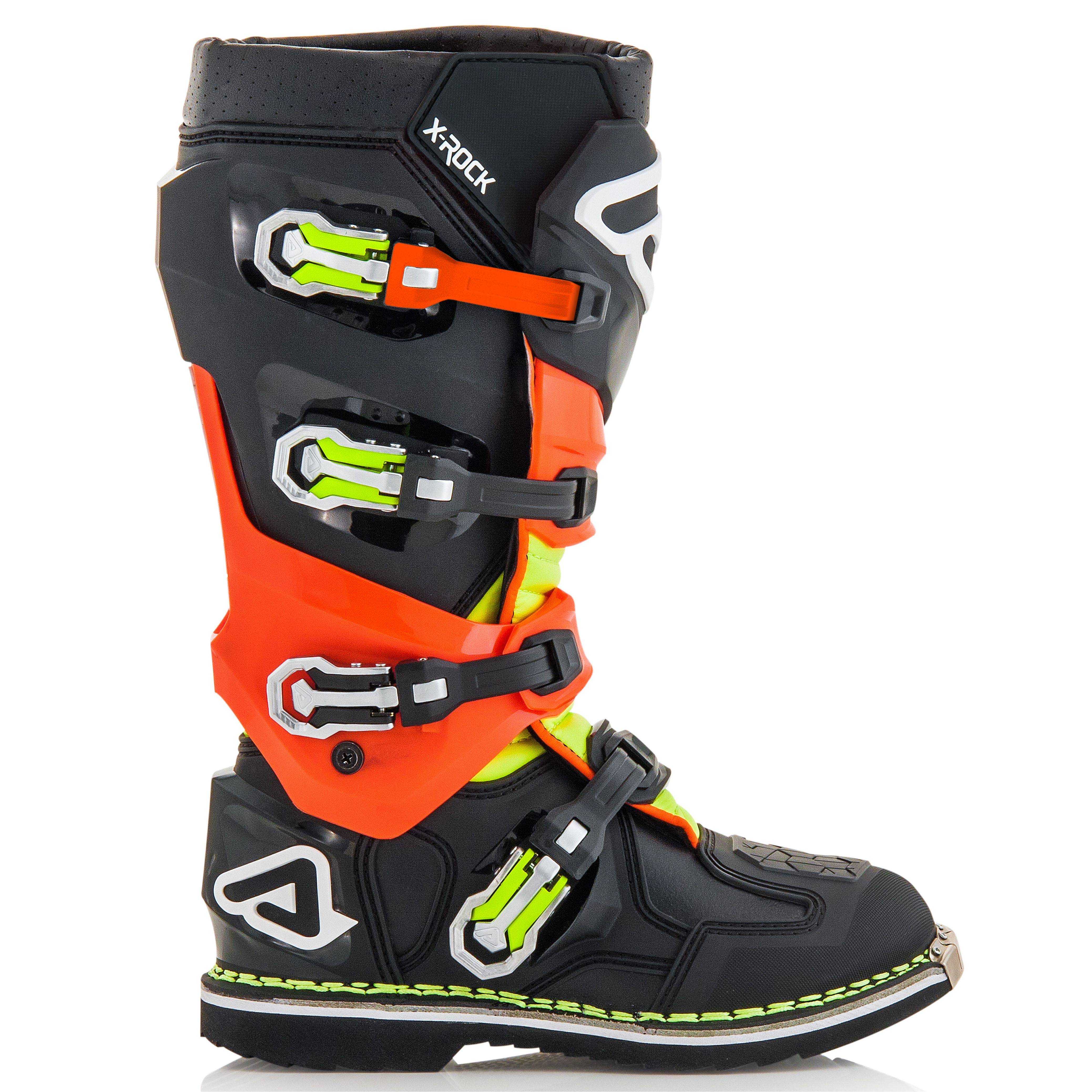 FLUO ORANGE ROCK X Acerbis cross 2020 BLACK Bottes n8vNw0m