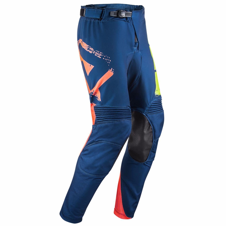 Pantalon Cross Acerbis Airborne Special Edition - Jaune Fluo Bleu -