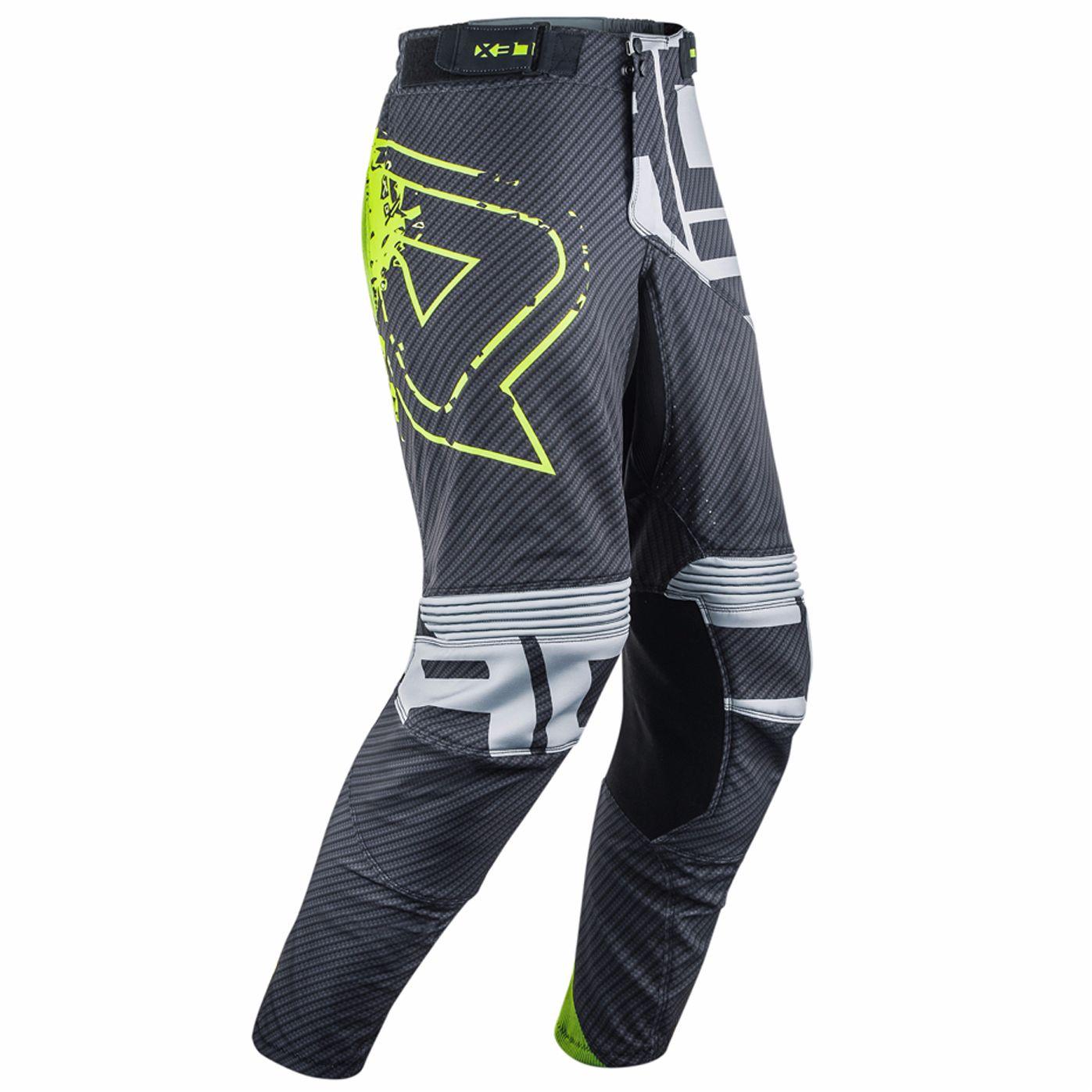 Pantalon Cross Acerbis Carbon Flex - Noir Jaune Fluo -