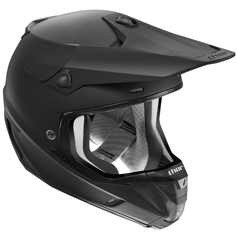 Casque cross Thor VERGE SOLID - NOIR MAT -