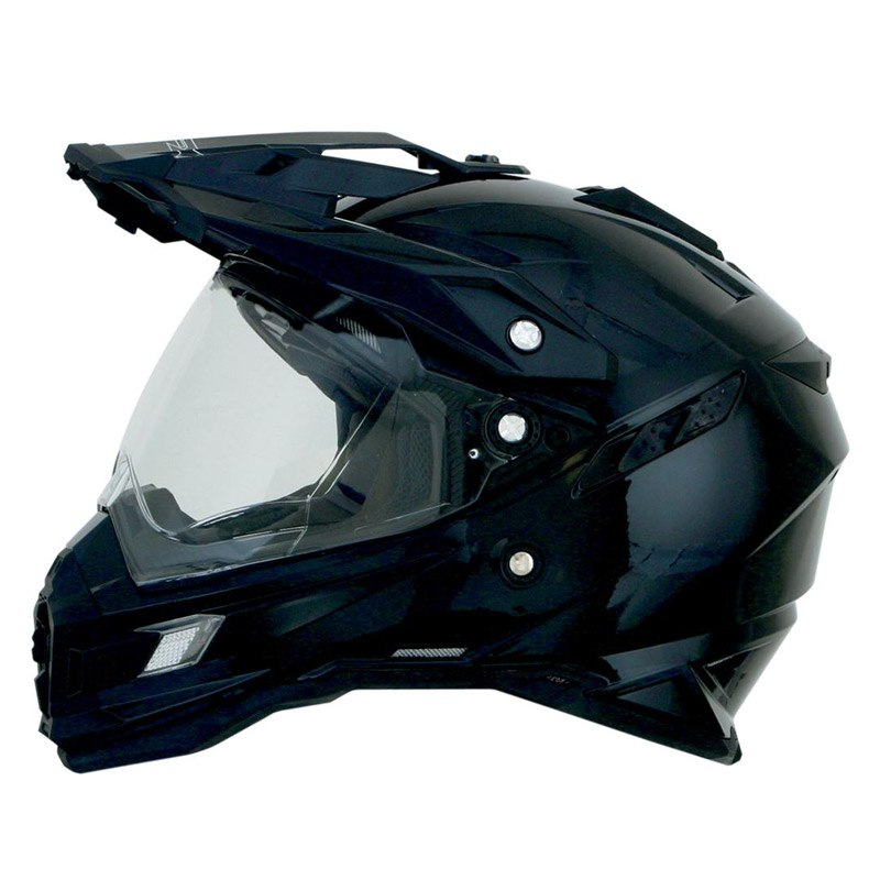 Casque Afx Fx41ds Solid Gloss Black