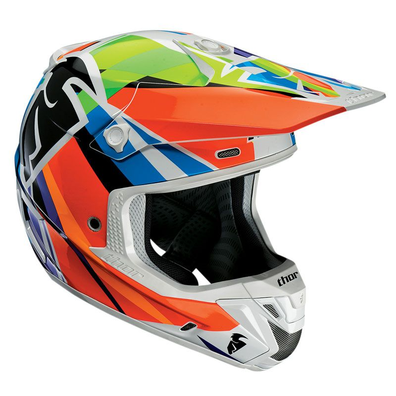 Casque cross Thor Déstockage VERGE - TRACER - MULTICOLOR -  2018