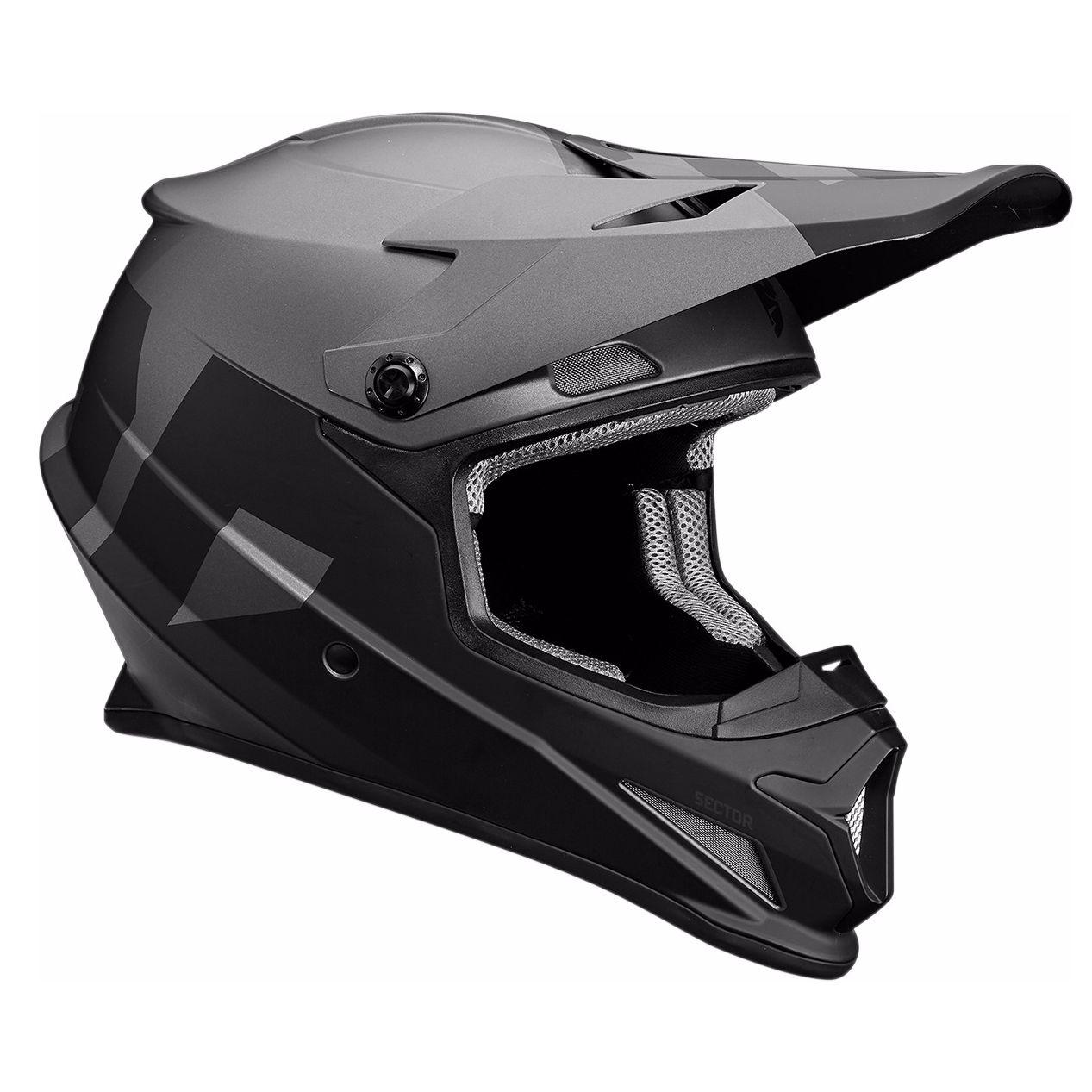 Casque cross thor sector level mat noir gris 2019 - Casque de motocross ...