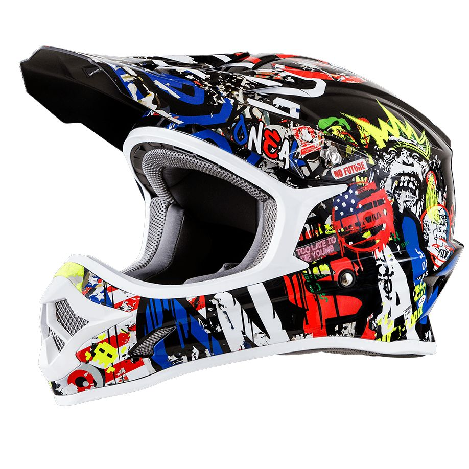 Casque cross O'Neal 3 SERIES RANCID - MULTICOLORE - 2018