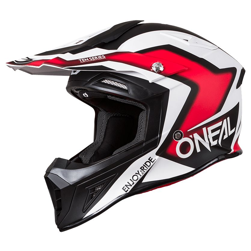 Casque Cross O'neal 10 Series Flow-drez - Noir Rouge -