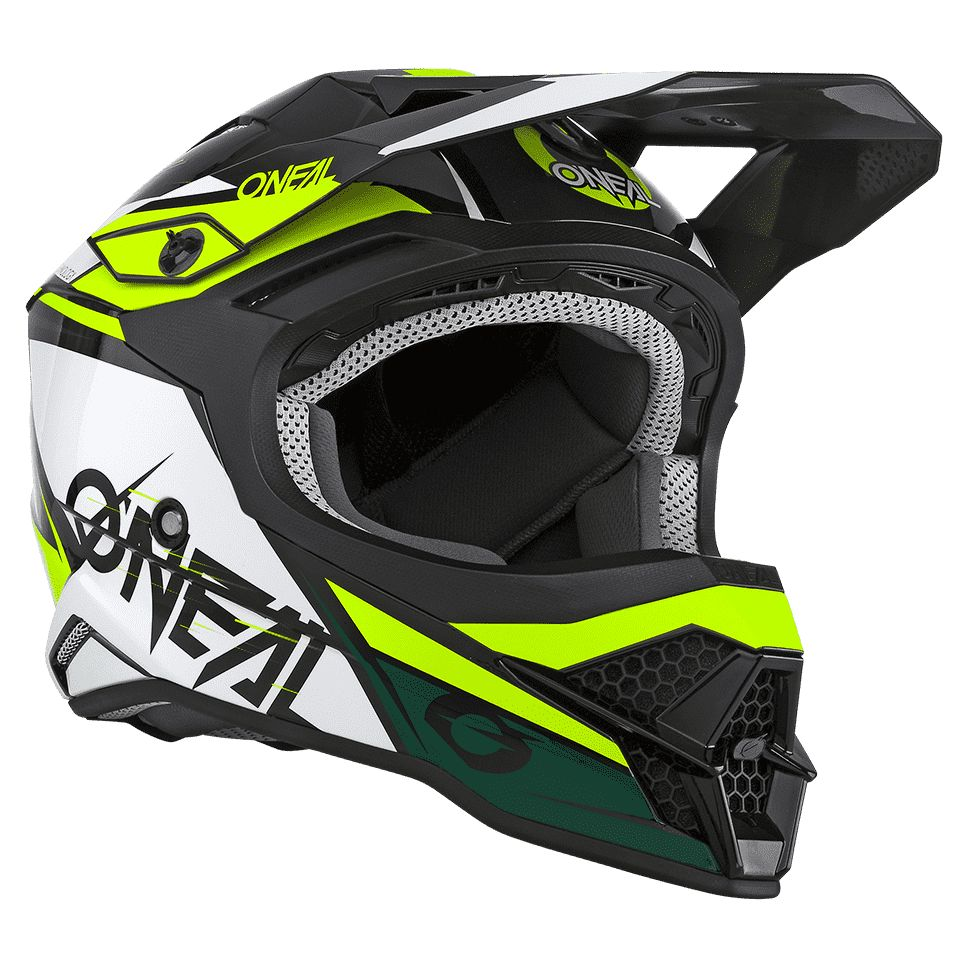 Casque cross O'Neal SERIES 3 - STARDUST - BLACK WHITE YELLOW GLOSSY 2021