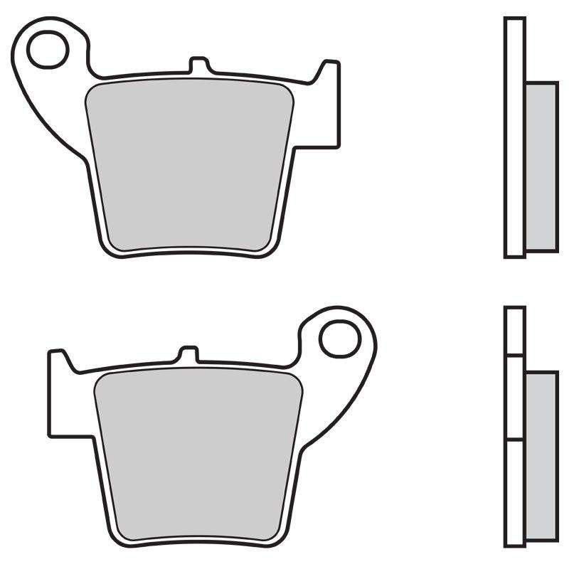 Plaquettes de freins Brembo Sinter Métal Fritté Racing arrière