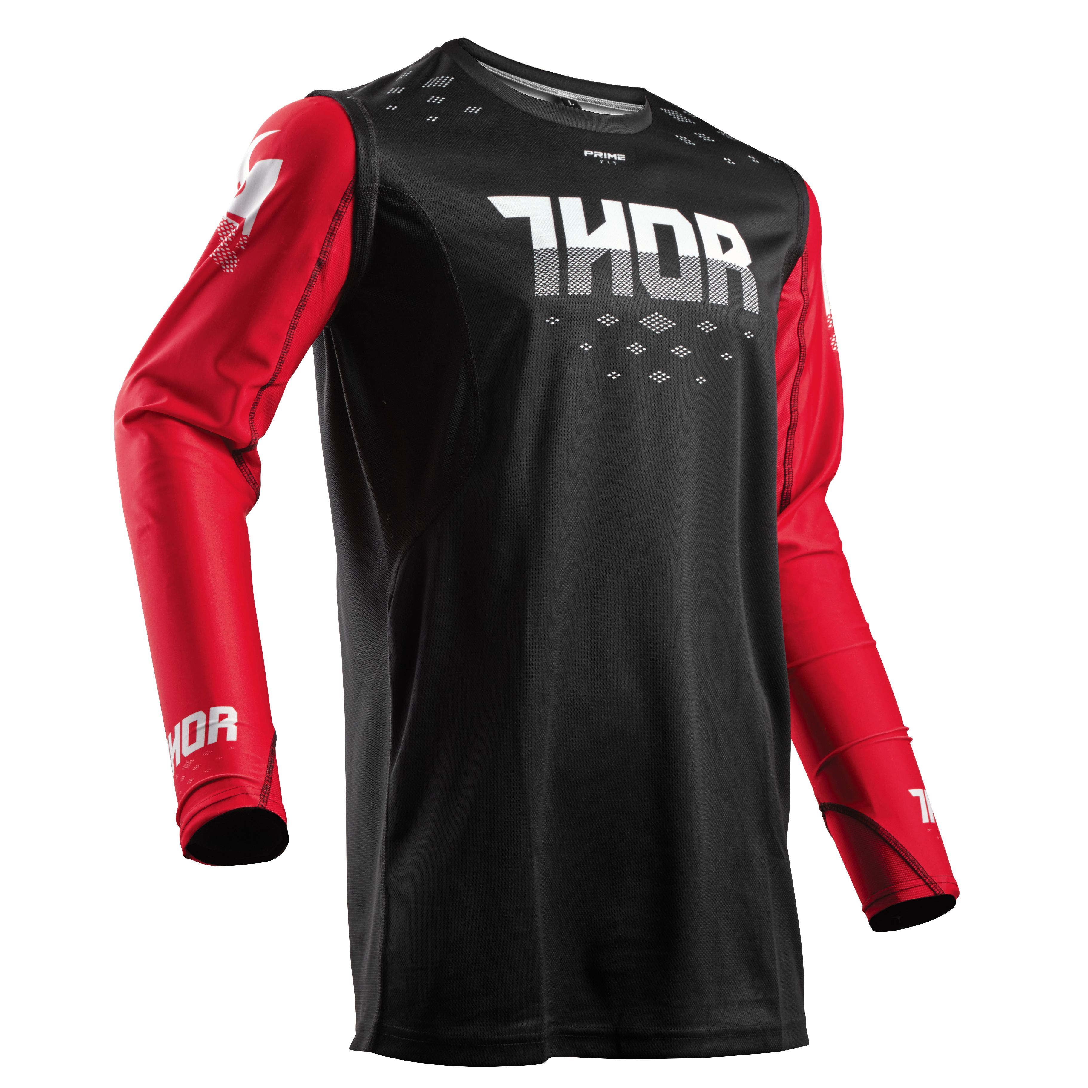 Maillot cross Thor PRIME FIT ROHL - NOIR ROUGE -