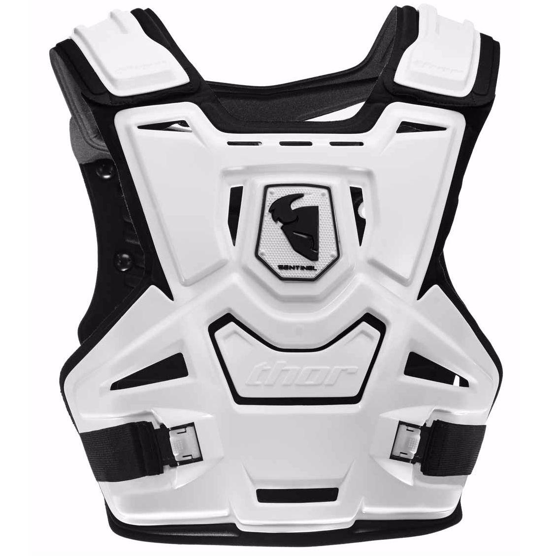 plastron thor sentinel white 2019 protection et accessoires cross. Black Bedroom Furniture Sets. Home Design Ideas
