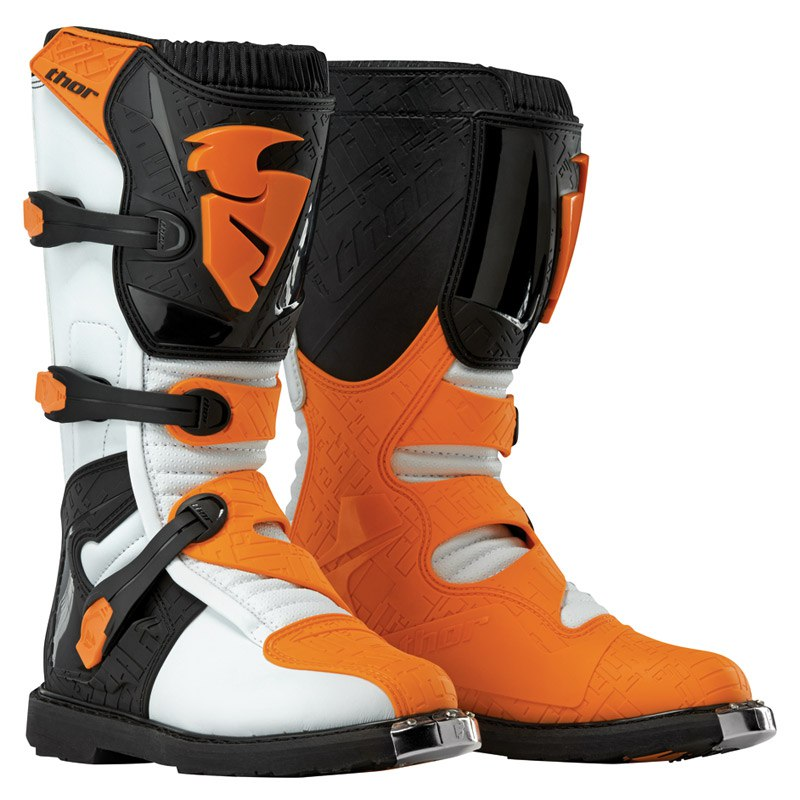 Bottes Cross Thor Youth Blitz - Blanc Orange -