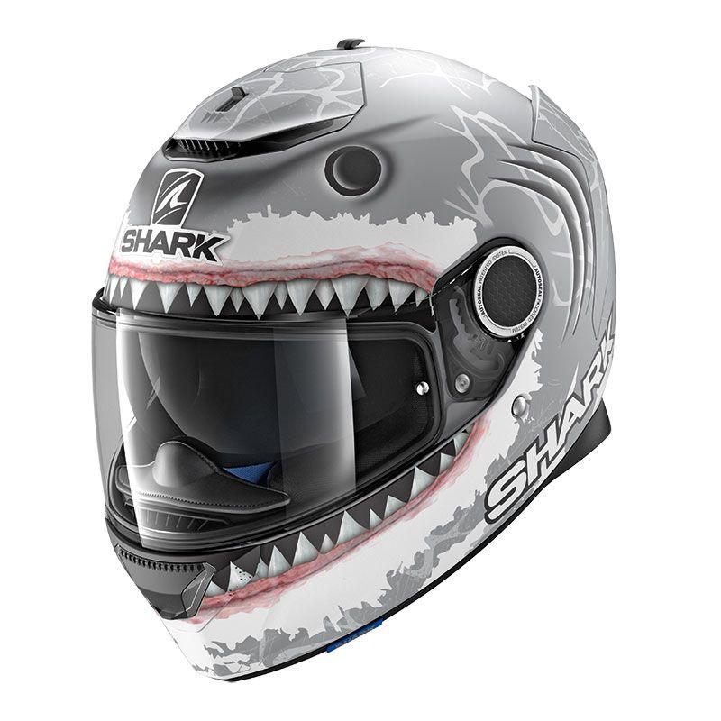 Casque Shark Spartan Replica Lorenzo White Shark Mat Casque