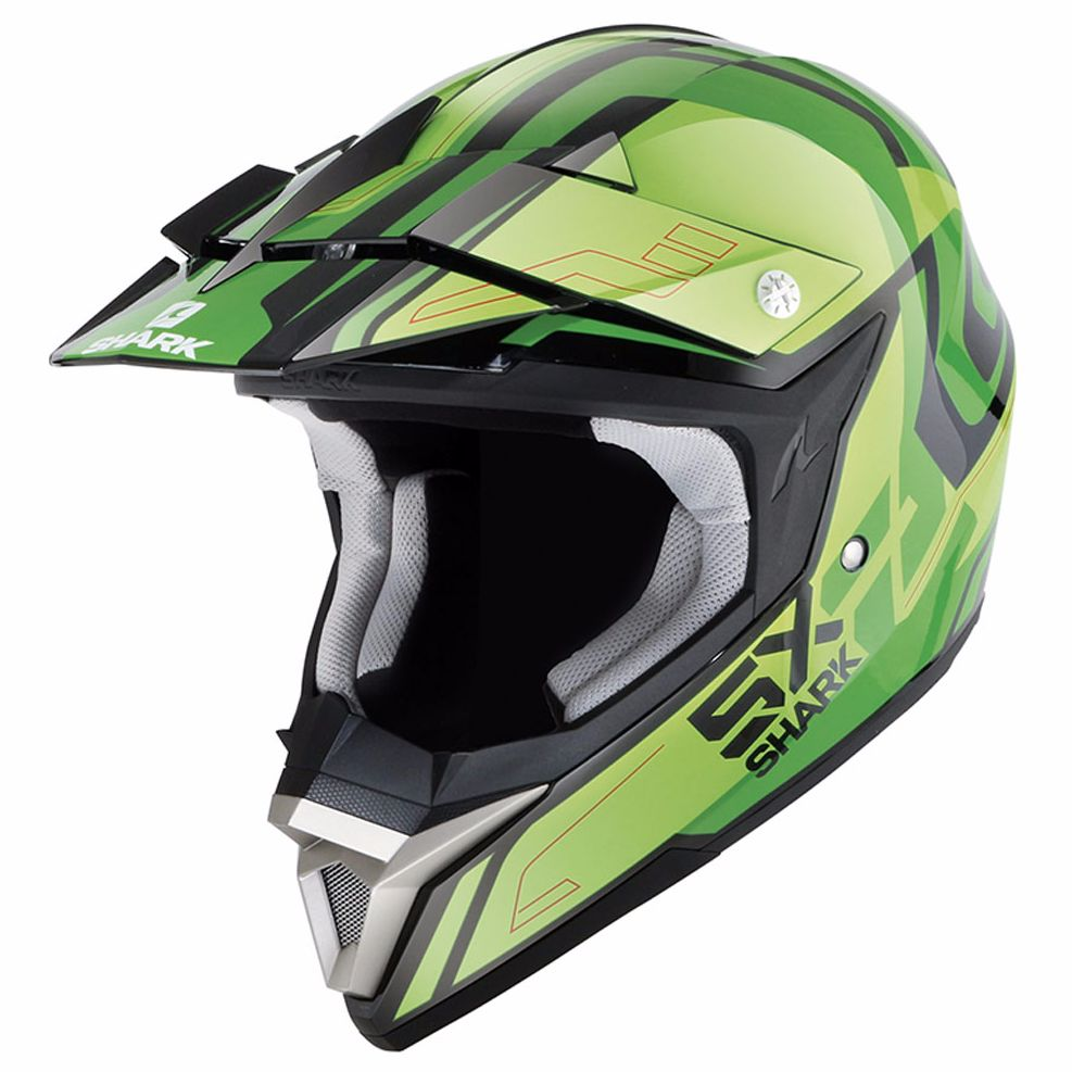 Casque Cross Shark Sx 2 Bhauw Kgg