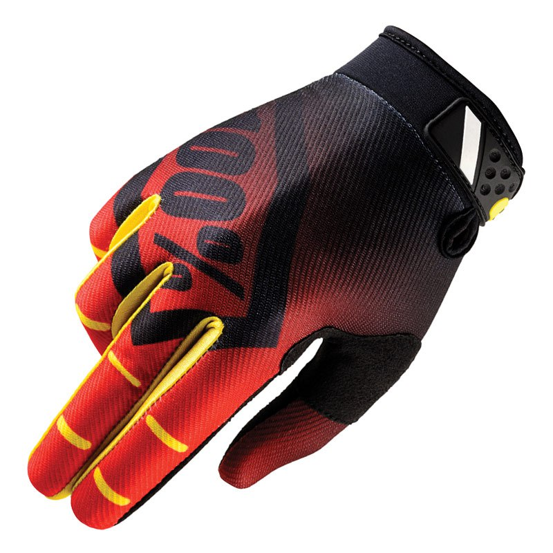 Gants cross 100% RIDEFIT - CORPO ROUGE - 2018