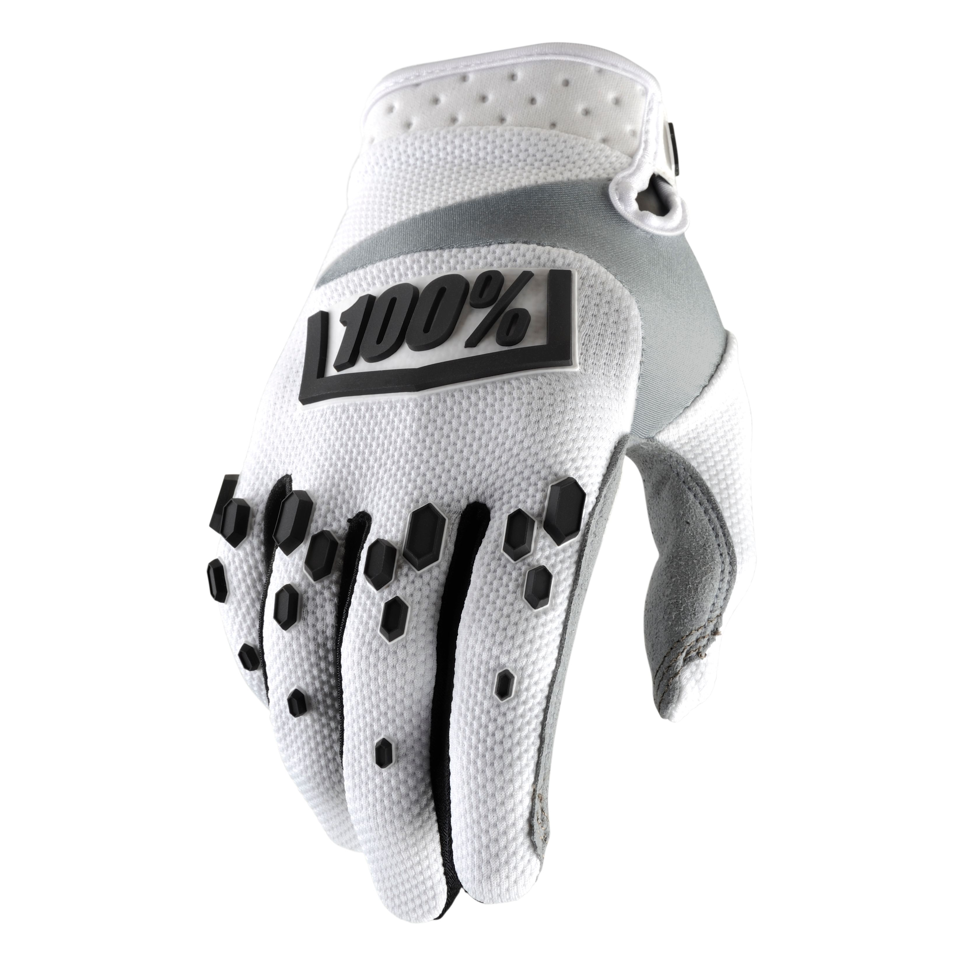 Gants Cross 100% Airmatic - Blanc/noir
