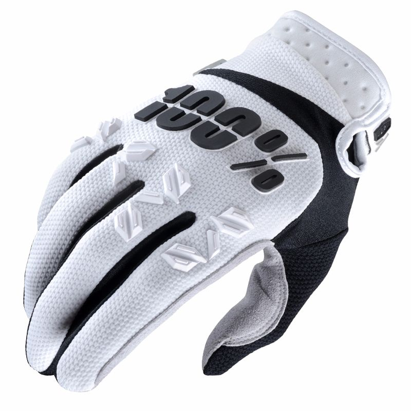 Gants Cross 100% Airmatic - Blanc Noir -