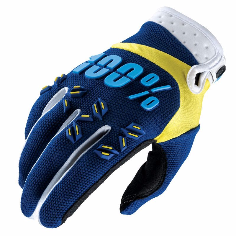 Gants Cross 100% Airmatic - Bleu Marine Jaune -