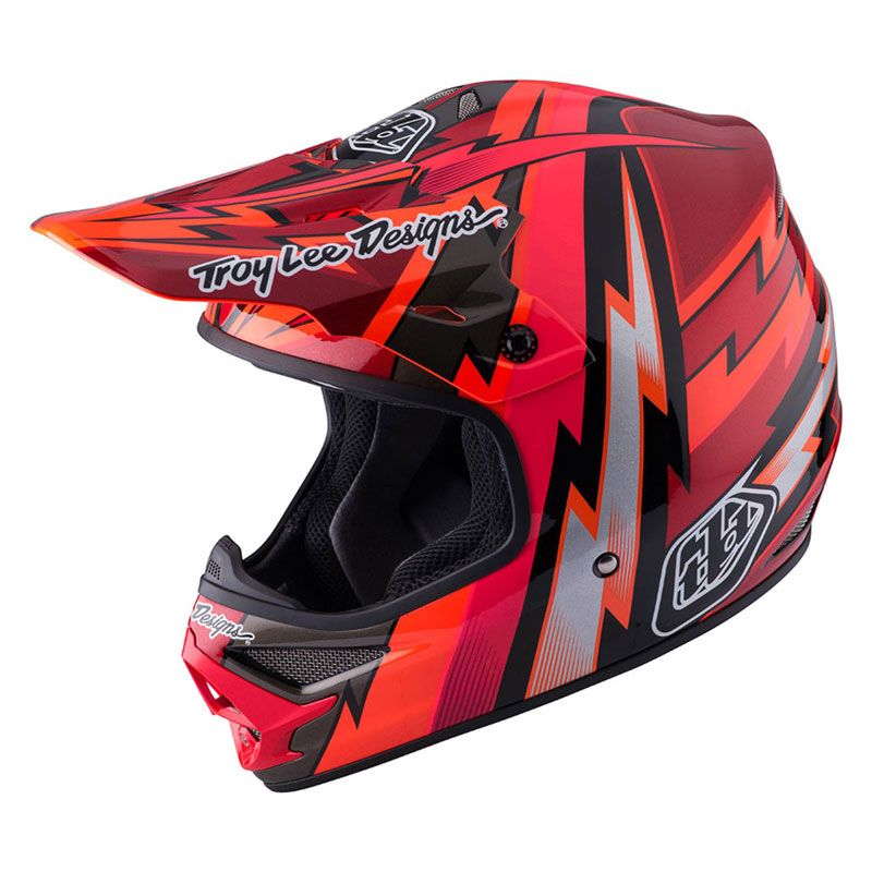 Casque Cross Troylee Design Air Beams Red