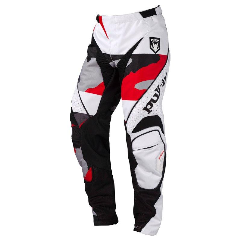 Pantalon Cross Pull-in Fighter Camo Noir Blanc Rouge