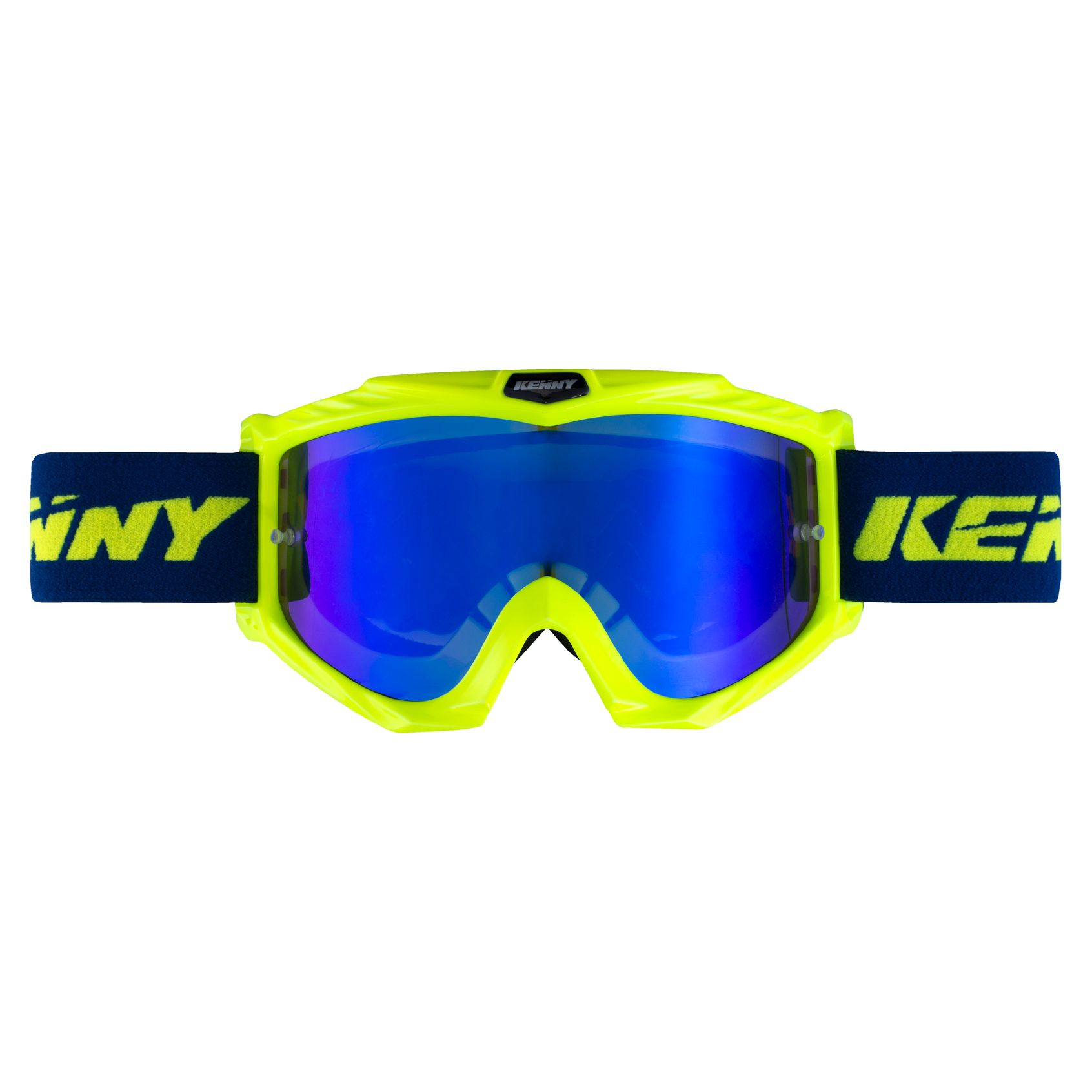 Masque cross Kenny TRACK + - BLEU JAUNE FLUO 2020