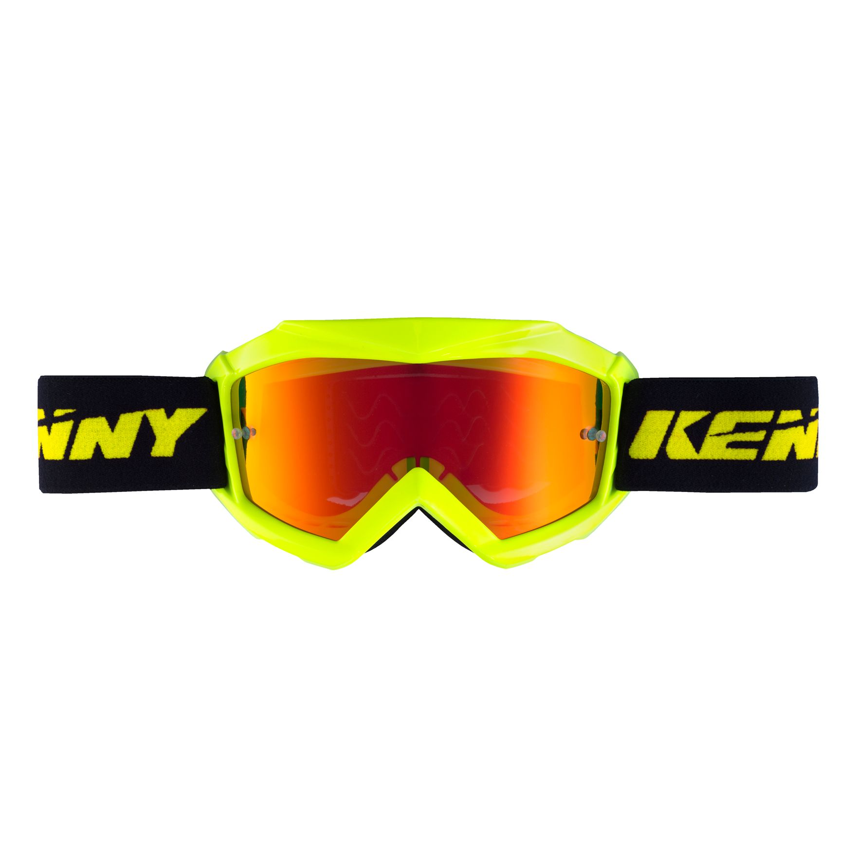 Masque cross Kenny KID TRACK + - JAUNE FLUO