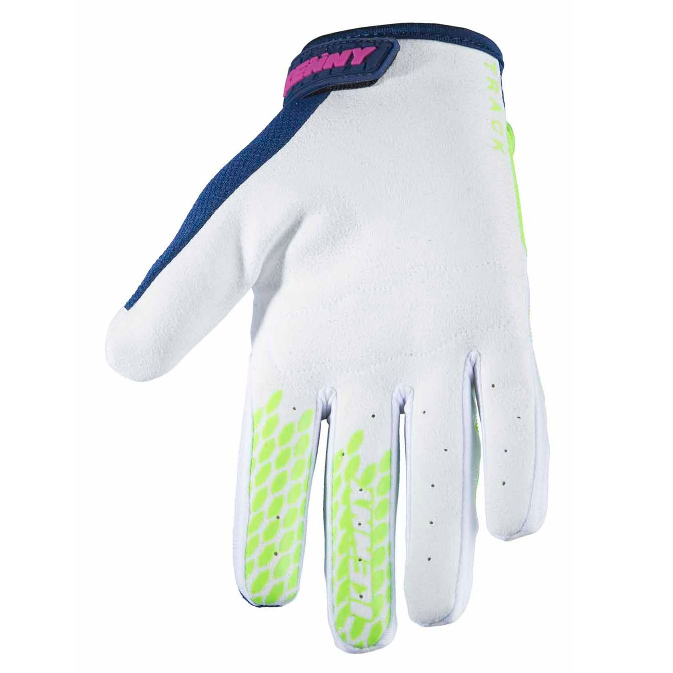 Gants cross Kenny TRACK YOUTH - NAVY LIME -