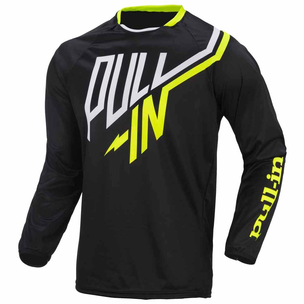Maillot cross Pull-in destockage CHALLENGER JUNIOR - NOIR -