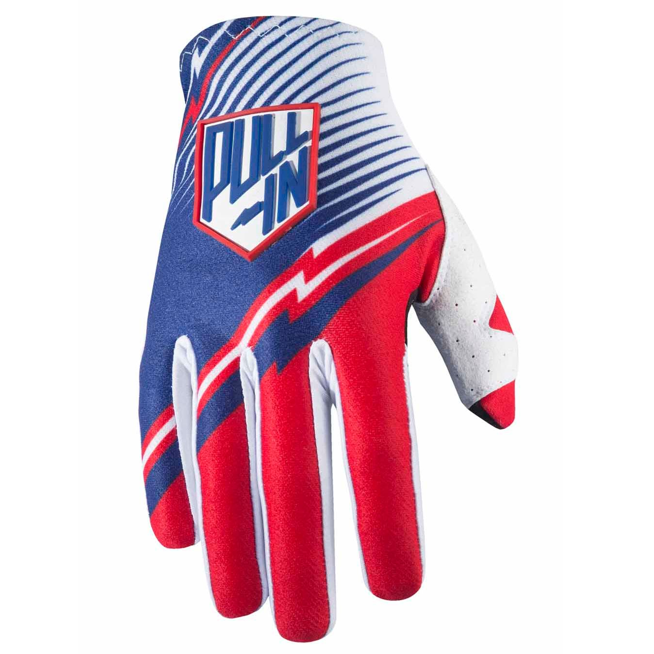 Gants cross Pull-in destockage CHALLENGER - BLEU / ROUGE- 2017