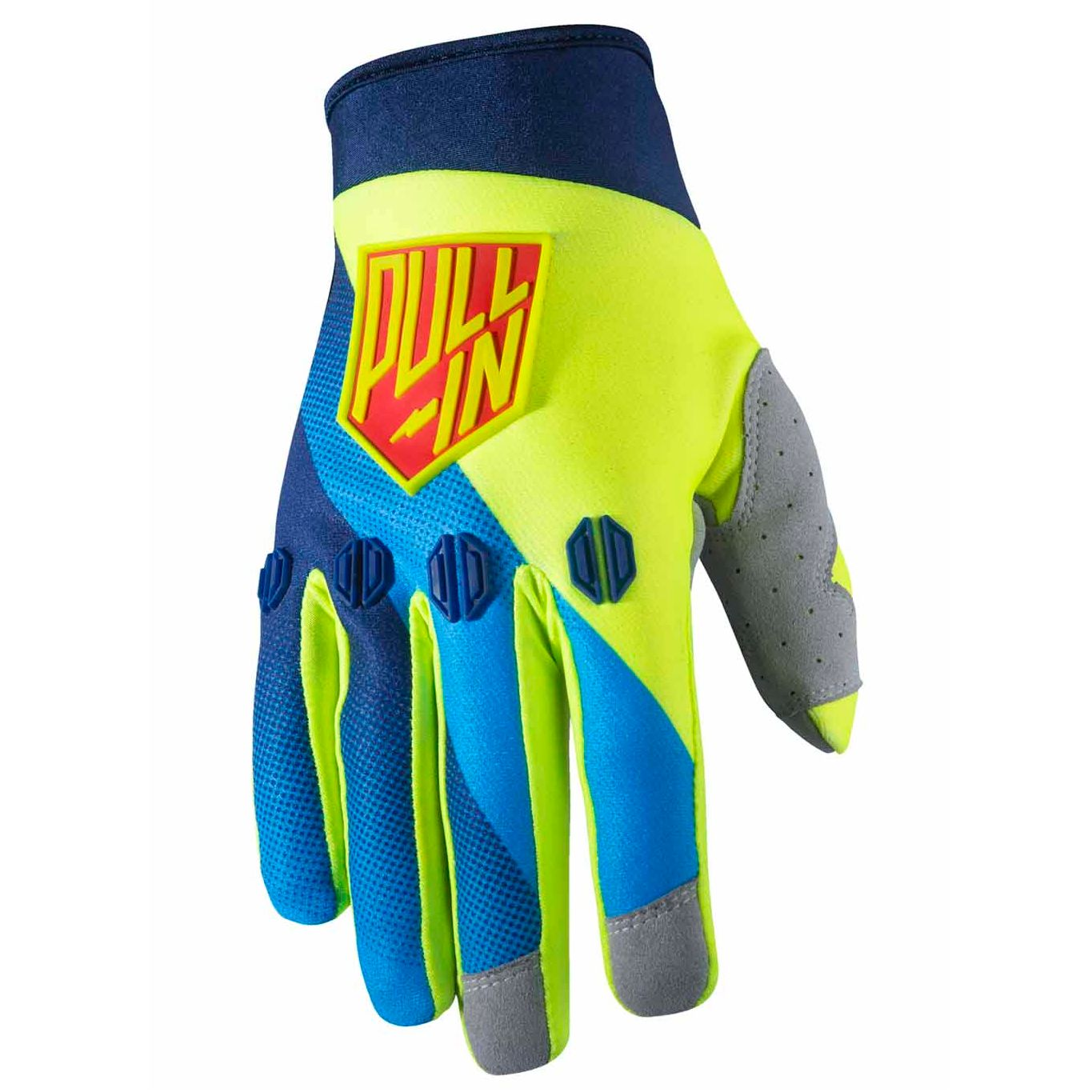 Gants Cross Pull-in Race - Bleu / Jaune -