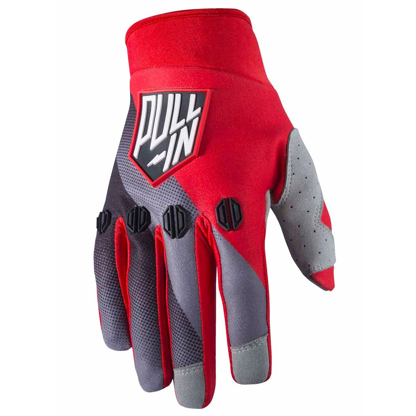 Gants Cross Pull-in Race - Noir / Gris / Rouge -