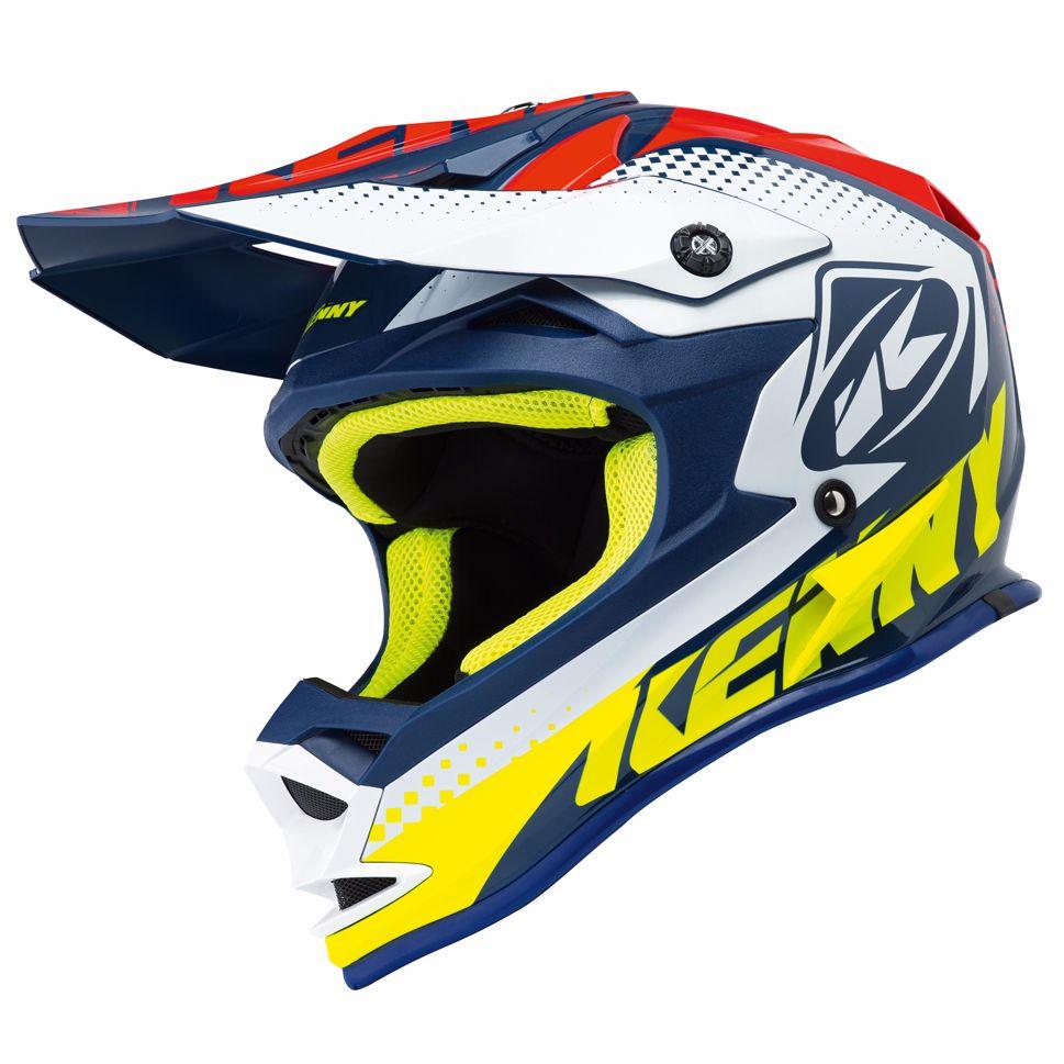 Casque cross kenny performance bleu rouge 2018 - Casque de motocross ...