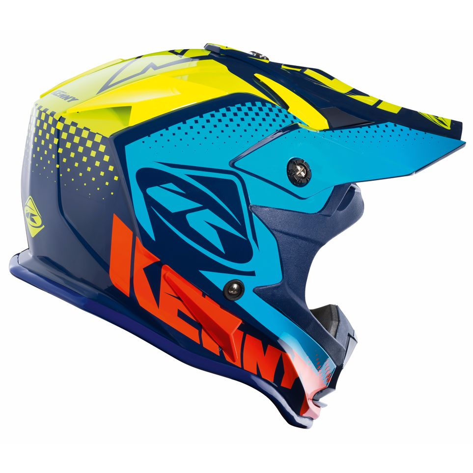 Casque cross Kenny PERFORMANCE - BLEU -  2018