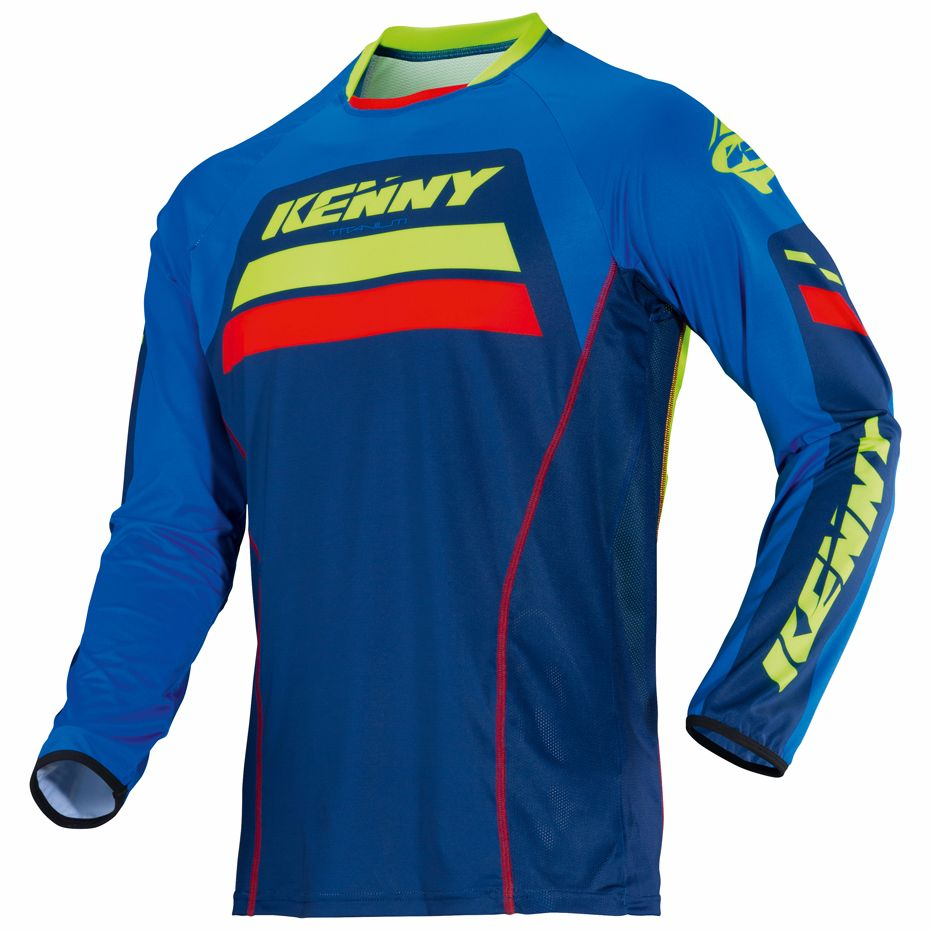 Maillot cross Kenny TITANIUM - BLEU -  2018