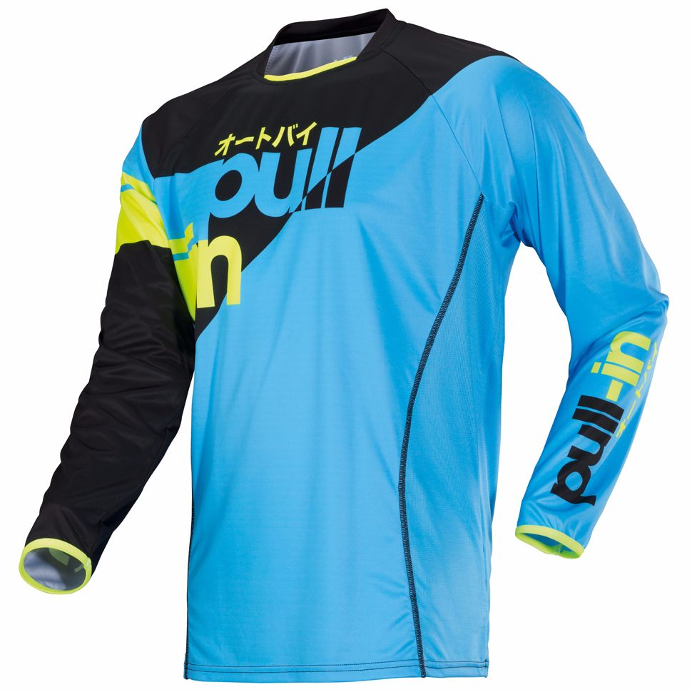 Maillot Cross Pull-in Race - Sky -
