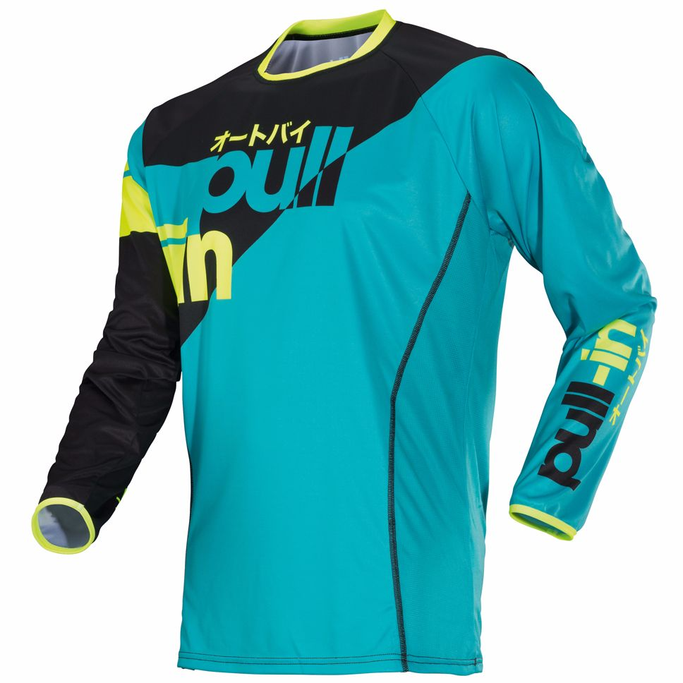 Maillot Cross Pull-in Race - Aqua -