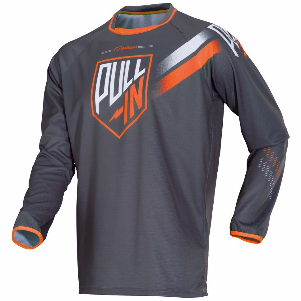 Maillot Cross Pull-in Challenger - Gris Orange -