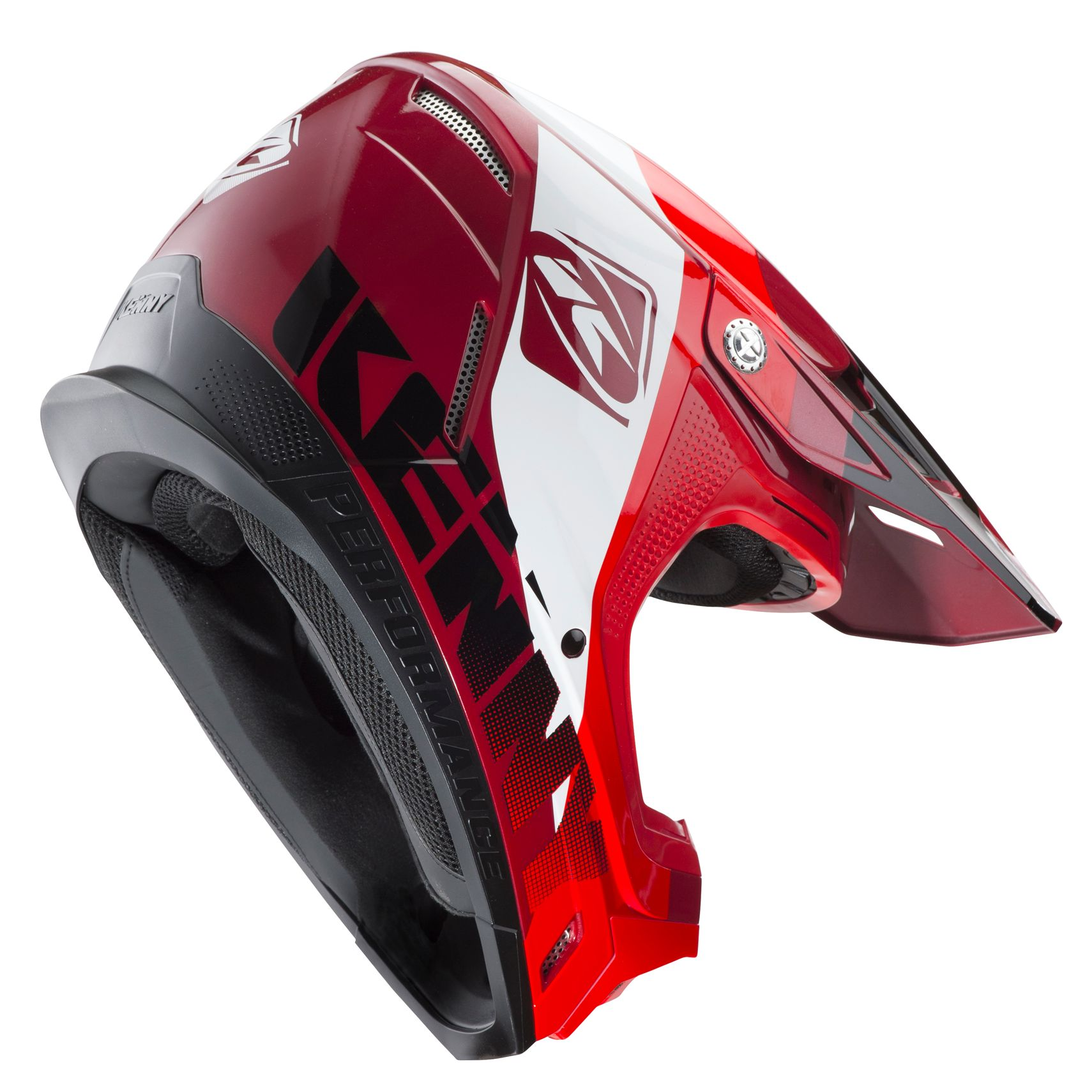 Casque cross Kenny PERFORMANCE RED CANDY 2020