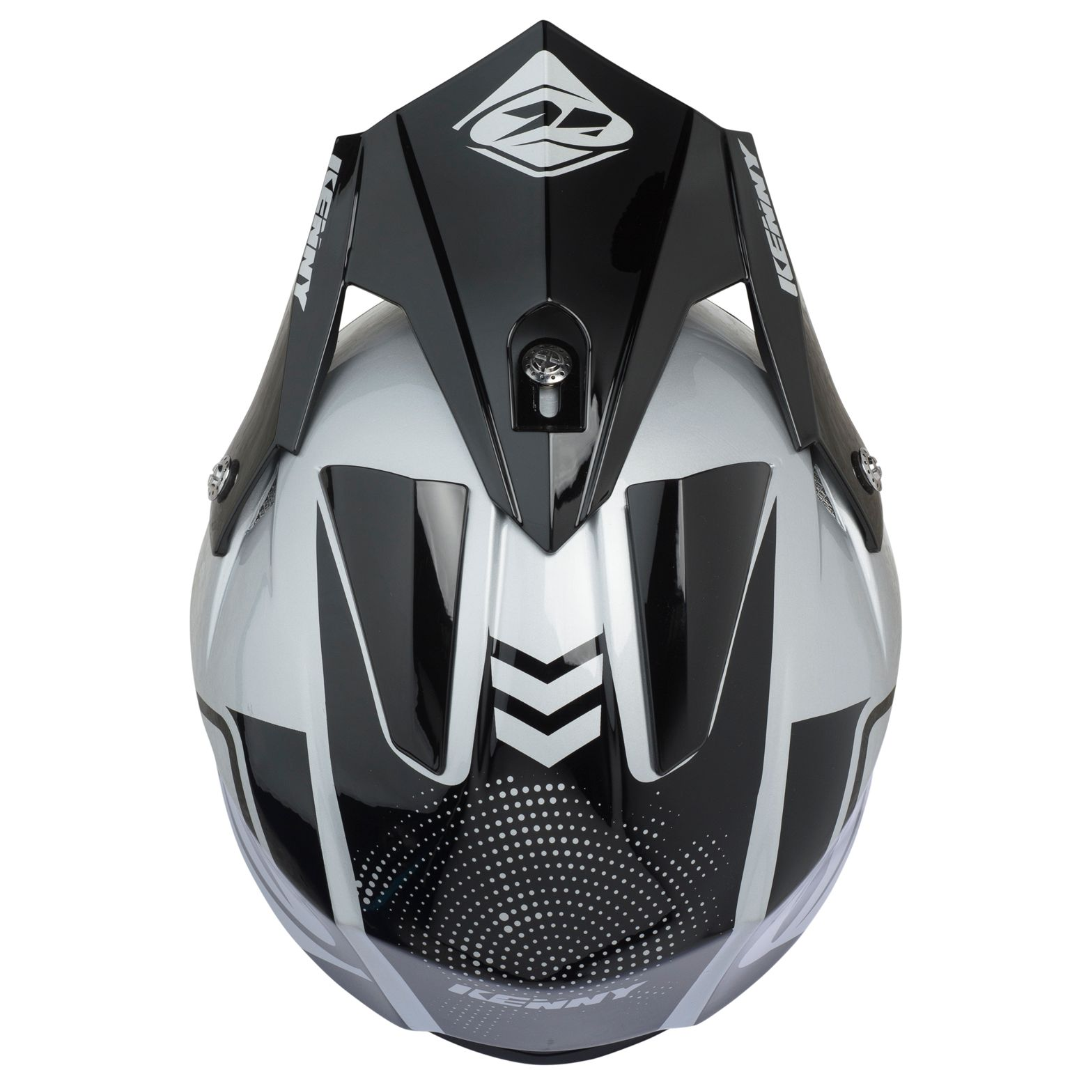 Casque cross Kenny TRIAL AIR BLACK SILVER 2020