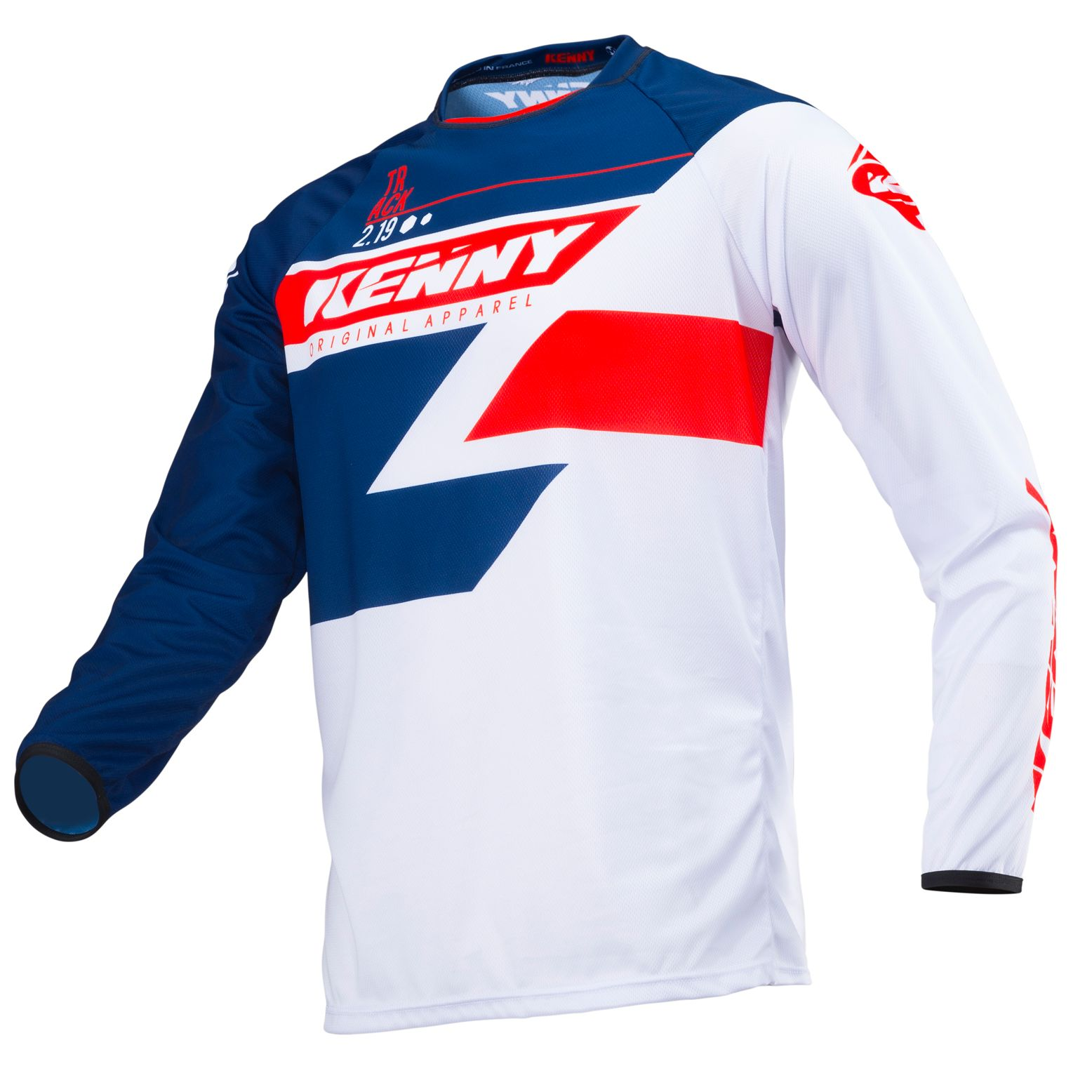 Maillot cross Kenny destockage TRACK NAVY RED 2019