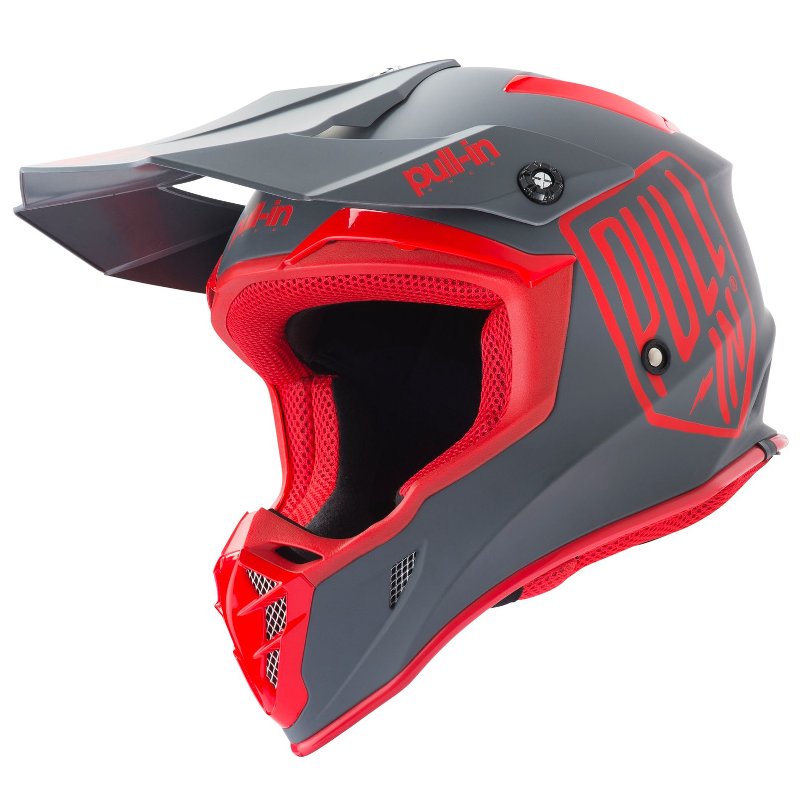 Casque cross Pull-in SOLID RED GREY 2019