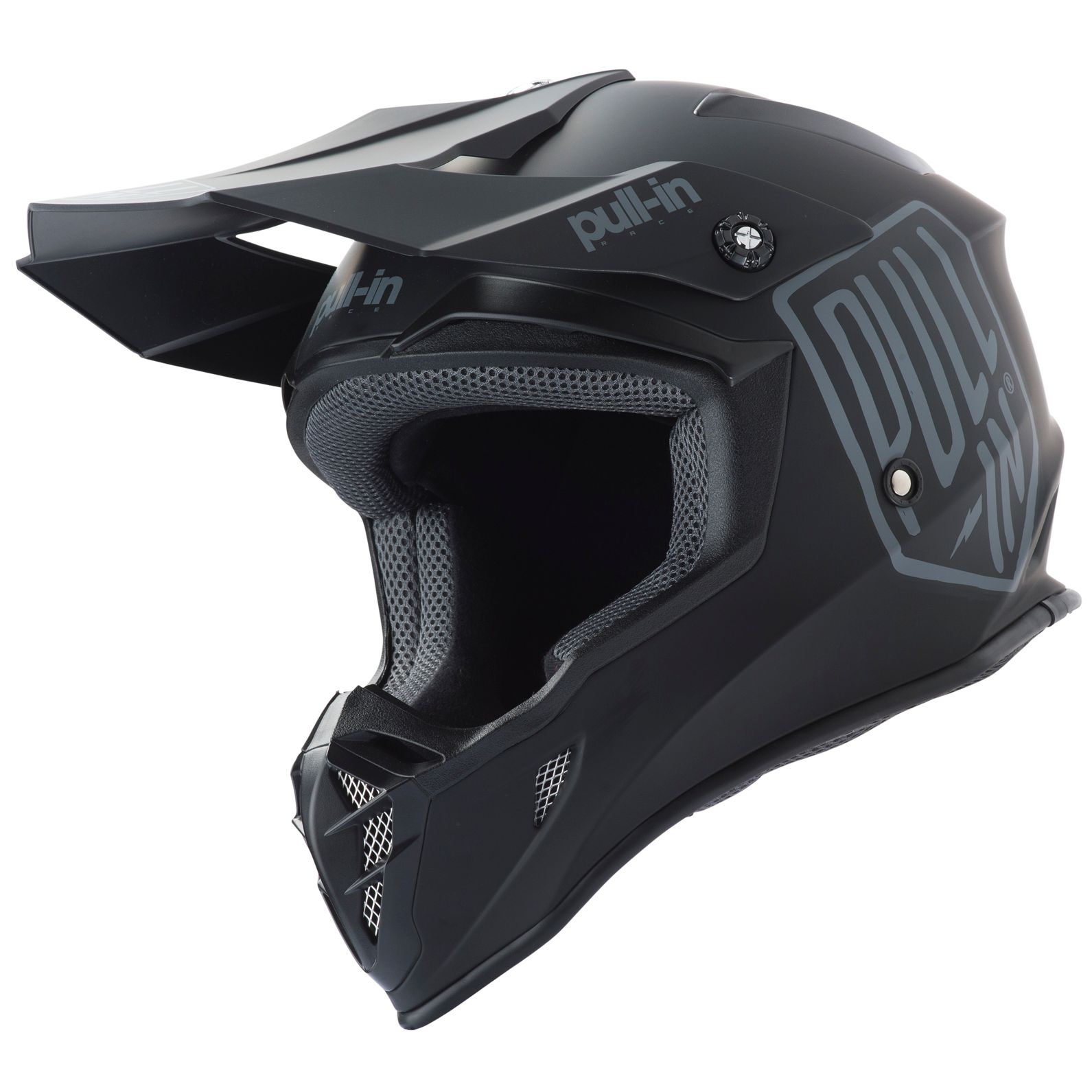 Casque cross Pull-in SOLID BLACK 2019