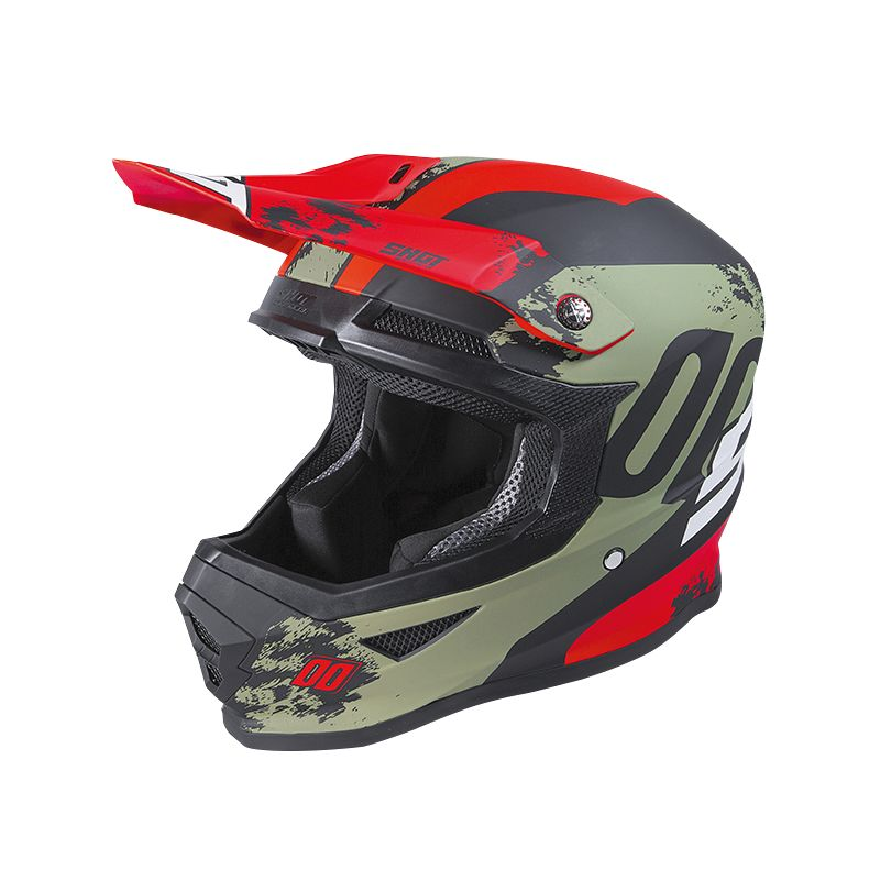 Casque cross Shot FURIOUS - SHADOW - KAKI RED MATT 2020