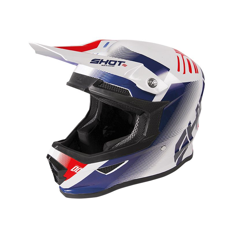 Casque cross Shot FURIOUS - TRUST - BLUE RED WHITE METALLIC GLOSSY 2020