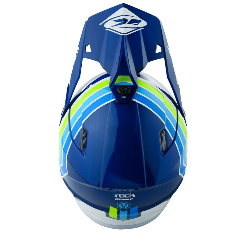 Casque cross Kenny TRACK - VICTORY - WHITE BLUE 2020