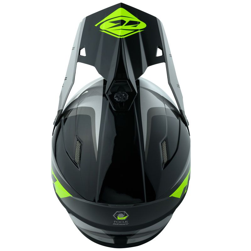 Casque cross Kenny TRACK - FOCUS - GREY NEON YELLOW 2020