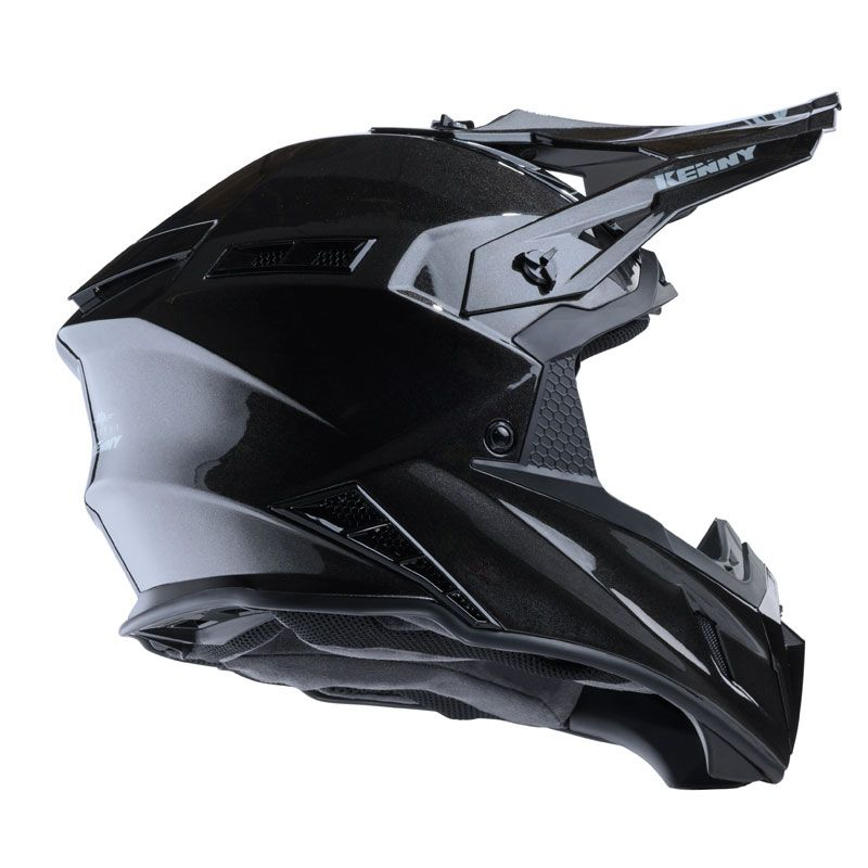 Casque cross Kenny TROPHY - SOLID - GLOSSY BLACK METALIC 2020