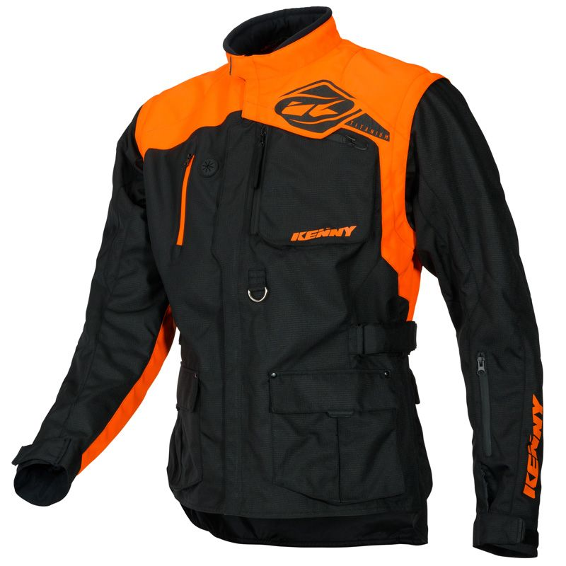 Veste enduro Kenny TITANIUM BLACK ORANGE 2020